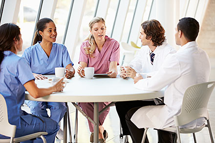 A Group of Nurses & Consultants
